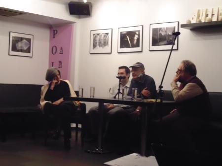 Το πάνελ της εκδήλωσης. Από αριστερά, οι Τ. Δανέλλη, Ν. Γαλανόπουλος, Φ. Φιλίππου και Τ. Μιχαηλίδης.