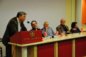 Κώστας Καλφόπουλος, Δημήτρης Παναγιωτάτος, Ανδρέας Αποστολίδης, Άλκη Ζέη.